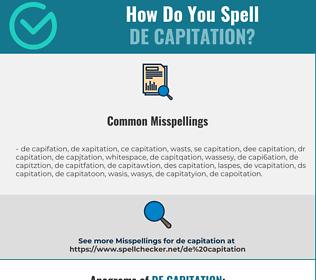 Correct spelling for de capitation