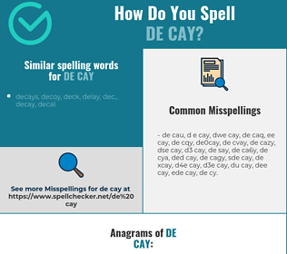 Correct spelling for de cay