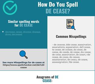 Correct spelling for de cease