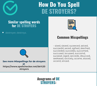 Correct spelling for de stroyers
