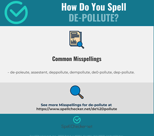 Correct spelling for de-pollute