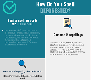 Correct spelling for deforested