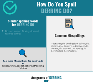 Correct spelling for derring do