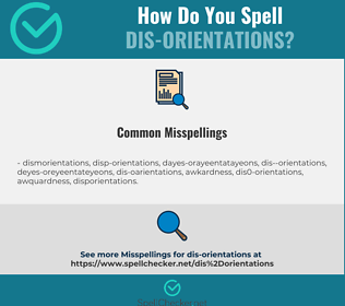 Correct spelling for dis-orientations