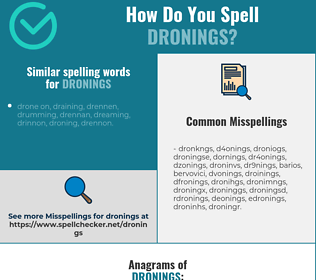 Correct spelling for dronings