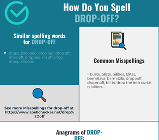 Correct spelling for drop-off