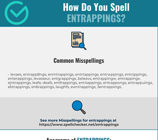 Correct spelling for entrappings