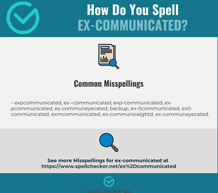 Correct spelling for ex-communicated
