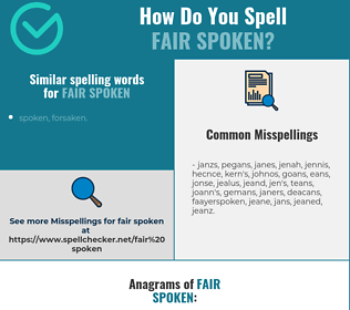 Correct spelling for fair spoken