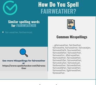 Correct spelling for fairweather