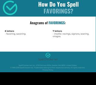 Correct spelling for favorings