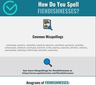 Correct spelling for fiendishnesses