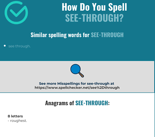 Correct spelling for see-through