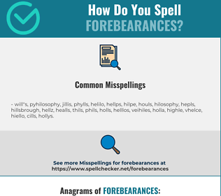 Correct spelling for forebearances