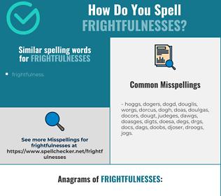 Correct spelling for frightfulnesses