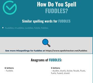 Correct spelling for fuddles