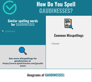 Correct spelling for gaudinesses