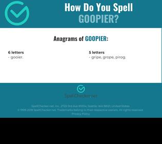 Correct spelling for goopier