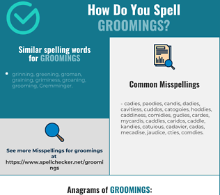 Correct spelling for groomings