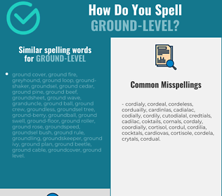 Correct spelling for ground-level