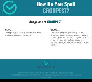 Correct spelling for groupest