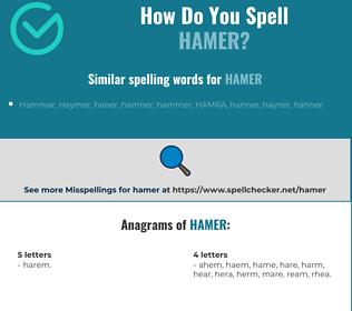 Correct spelling for hamer