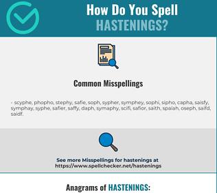 Correct spelling for hastenings