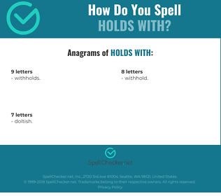 Correct spelling for holds with