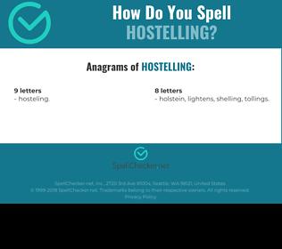 Correct spelling for hostelling