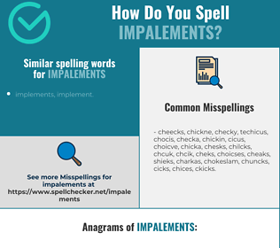 Correct spelling for impalements