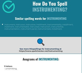 Correct spelling for instrumenting