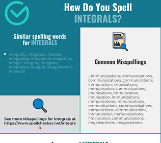 Correct spelling for integrals