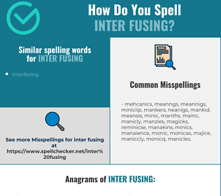 Correct spelling for inter fusing