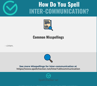 Correct spelling for inter-communication