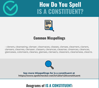 Correct spelling for is a constituent