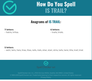 Correct spelling for is trail