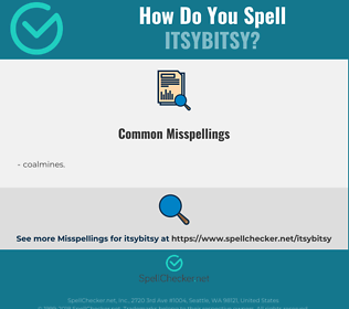 Correct spelling for itsybitsy