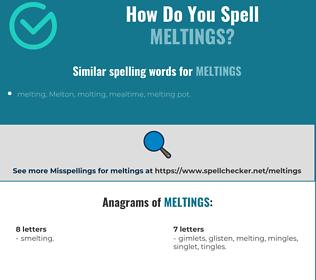 Correct spelling for meltings