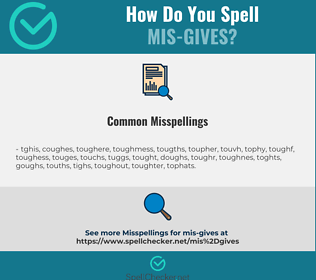 Correct spelling for mis-gives