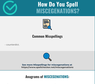 Correct spelling for miscegenations