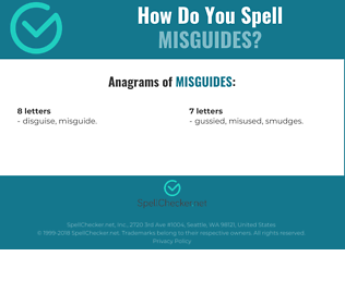 Correct spelling for misguides