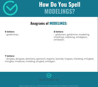 Correct spelling for modelings