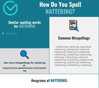 Correct spelling for nattering