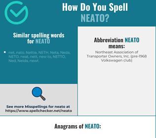 Correct spelling for neato