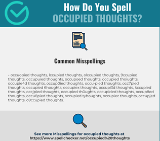 Correct spelling for occupied thoughts