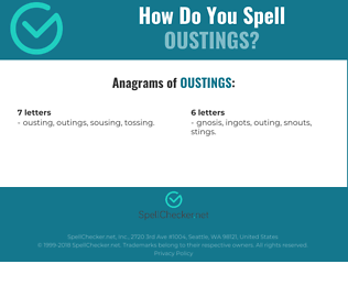 Correct spelling for oustings