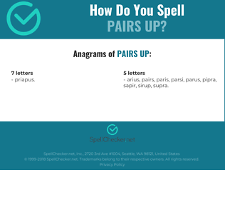 Correct spelling for pairs up