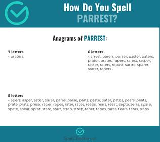 Correct spelling for parrest