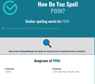 Correct spelling for poin