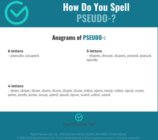 Correct spelling for pseudo-